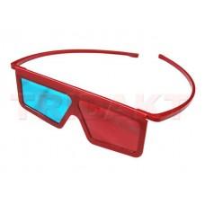 3D brýle red-cyan plastové bez ochr. fólie