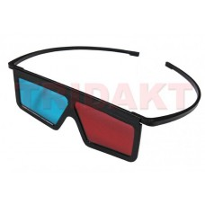 3D brýle red-cyan plastové s ochr. fólií