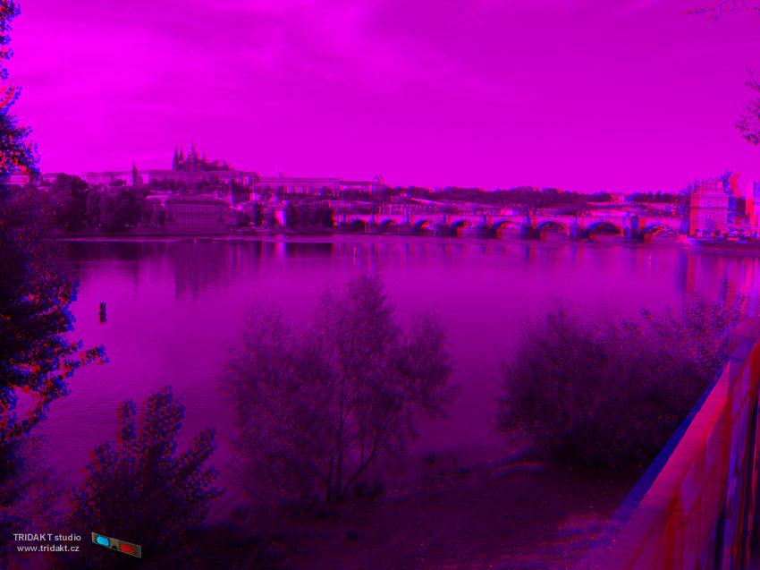 3D fotografie pro modro červené 3D brýle
